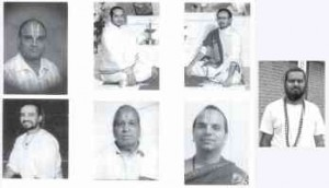 The seven participating priests